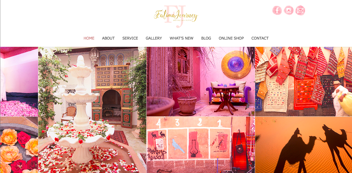 【Fatima Journey】「世界は広い」旅するようなウェブサイト